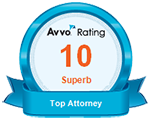 perfect Avvo rating - top Twin Cities Personal Injury Lawyer