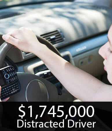 $1.7M Settlment in an accident involving a distracted driver